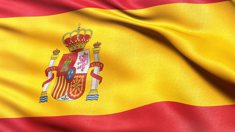 Spain flag seamless loop Animation