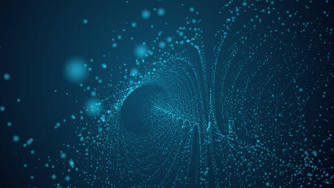 Computer generated tube made from blue dots Animation