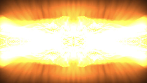 Kaleidoscopic effect of white, yellow, and orange light Animation