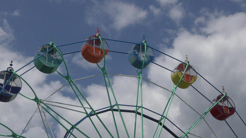 Ferris wheel in the Park Footage