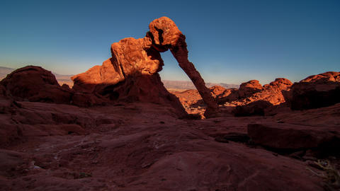 Timelapse shot of Elephant Rock and mountains in Nevada Footage