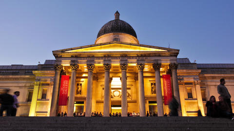 Time-lapse of the National Gallery in London Footage