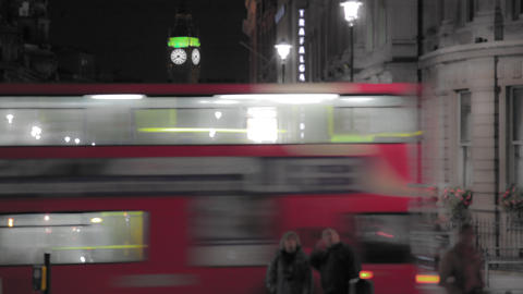 Time-lapse of a road leading to Big Ben in London Footage