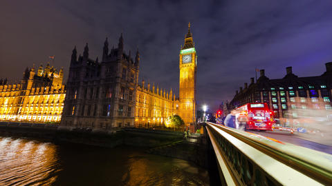 Time-lapse of Big Ben and Westminster in London Footage