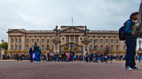 Time-lapse of Buckingham Palace in London Footage