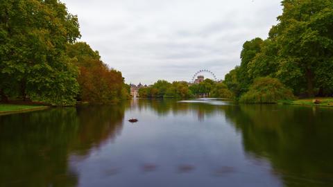 Saint James Park waterway time-lapse in London Footage