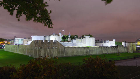 Time-lapse of the Tower of London in London Footage