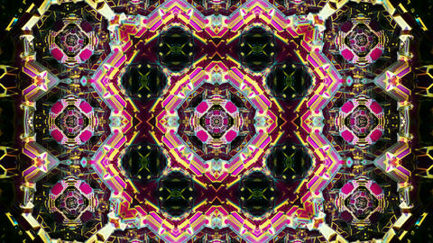 Looping kaleidoscope background CG動画素材