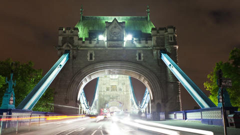 Tower Bridge time-lapse in England Footage