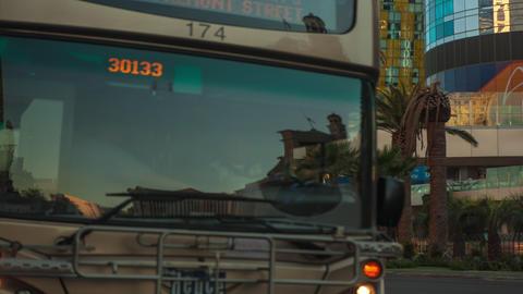 Timelapse shot of a busy street in Las Vegas Footage