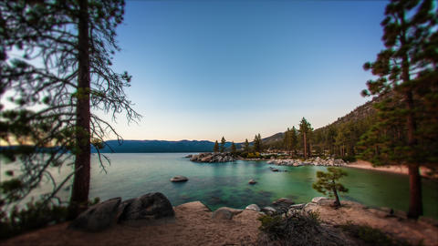 Timelapse shot of Sand Harbor, Lake Tahoe in Nevada Footage