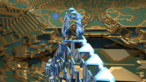 Looping 3D fractal growth Stock Video Footage
