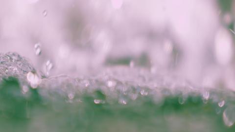 Extreme close up of rushing water splashing shot in slow motion Footage