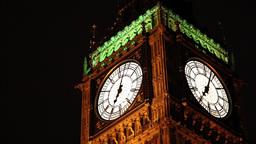 Big Ben at night Footage