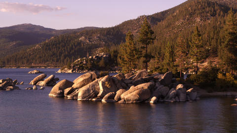 Picturesque static shot of Emerald Bay at Lake Tahoe, California Footage