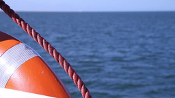 Orange buoy from boat Footage