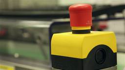 Emergency red button of industrial machine Footage