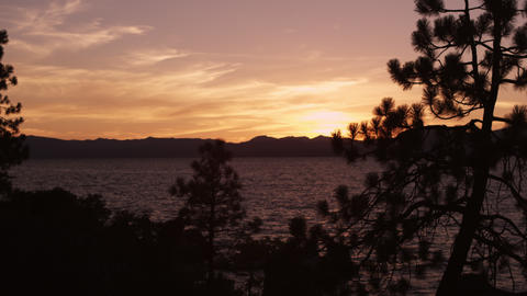 Static shot of Emerald Bay at Lake Tahoe, California, during sunset Footage