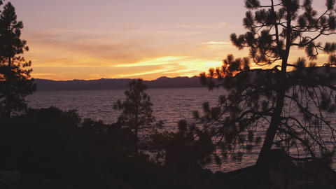 Static shot of Emerald Bay at Lake Tahoe, California, taken from across the bay Footage