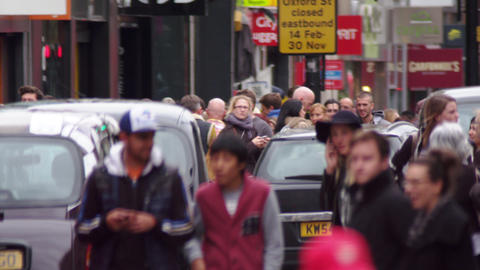LONDON - OCTOBER 8: People and traffic in slow motion on October 8, 2011 in Lond Footage
