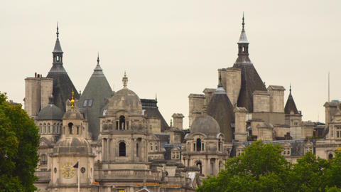 Spires near the Horse Guards building Footage