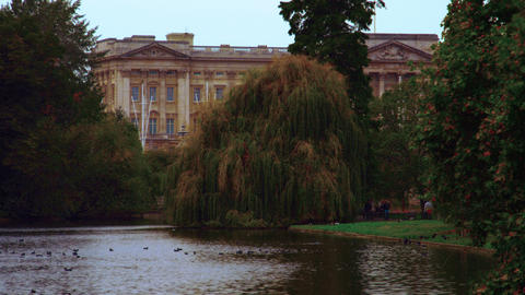 Saint James Park and Buckingham Palace Footage