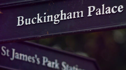 Buckingham Palace sign Footage