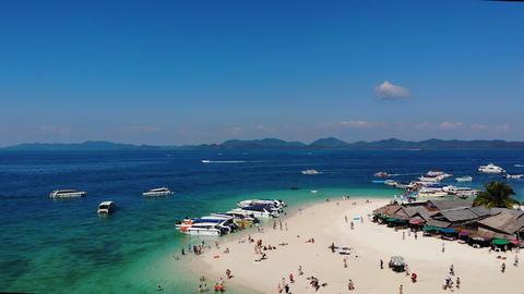 Island Koh Khai Nok in the Ocean Footage