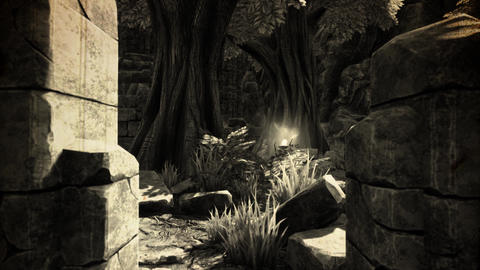 4K Ancient Mysterious Fantasy Sacred Place Vintage 3D Animation Animation