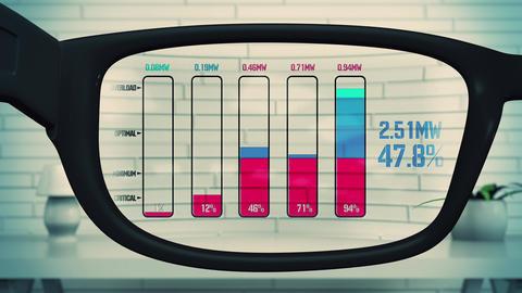 4K AR Glasses Electricity Blackout Charts Animation