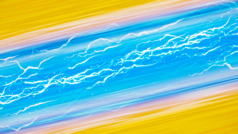 Electric Blue and Yellow Background Animation