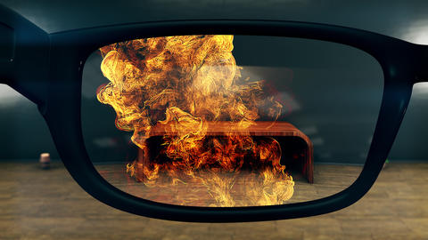 4K Super Slow Motion Explosion AR Glasses Concept Art Animation