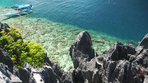 Beautiful rocks near the sea in the philippines Live Action