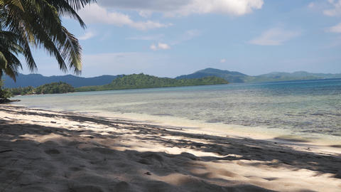 Beautiful tropical beach with white sand and clear water Live Action