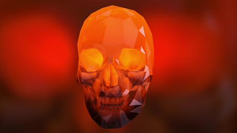 4K Rotating Crystal Skull Loop Halloween ArtSeamless Looping Animation Animation