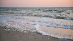 Foam and wave sunlight reflection in Naples beach Florida crashing Footage