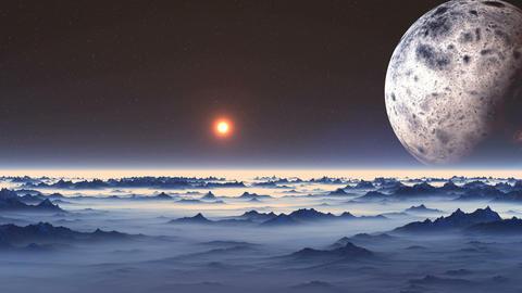 Flight over Alien Planet GIF