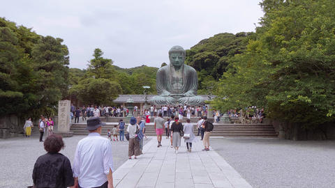 World famous Daibutsu Buddha - the Great Buddha Statue in Kamakura - TOKYO Live Action