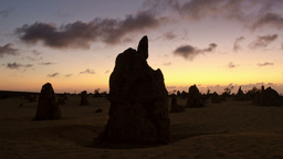 Silhouette Of The Pinnacles At Sunset TIme Lapse stock footage