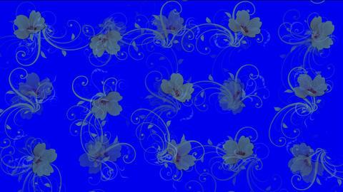flower pattern background Stock Video Footage