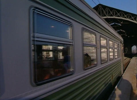Train travel Stock Video Footage