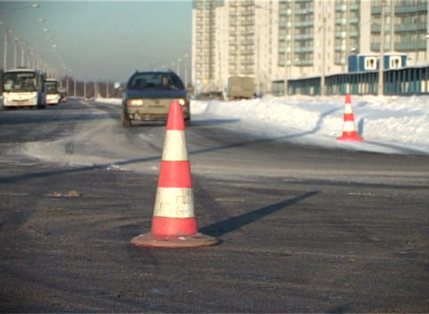 Road fence, the cone Footage