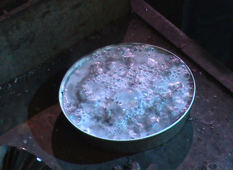 Carbide in water Stock Video Footage