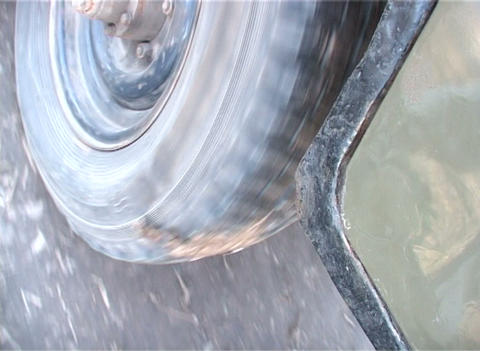 Rotation of a wheel a close up Stock Video Footage