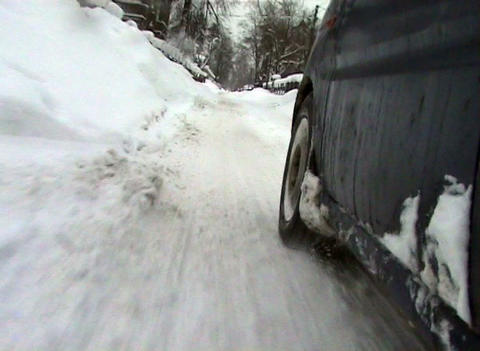 Directions by car in the snow Footage