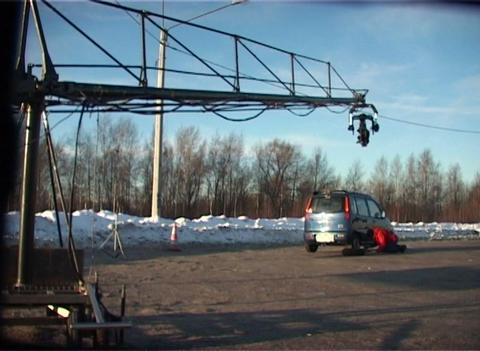 Camera on a crane Footage