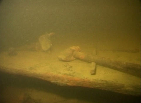 Sunken cars on Lake Ladoga Footage
