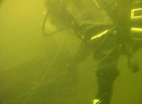 Sunken cars on Lake Ladoga Footage