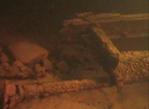 Sunken cars on Lake Ladoga Stock Video Footage
