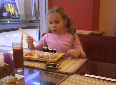 Girl in the Cafe Stock Video Footage